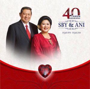 Selamat HUT Perkawinan Bapak SBY dan Ibu Ani #40thnSBYAni