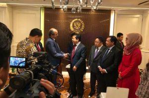 Herman Khaeron Dampingi Ketua DPR untuk Menerima Kunjungan Duta Besar Maroko Yang Baru