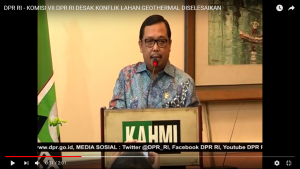 [Video] Komisi VII DPR RI Desak Konflik Lahan Geothermal Diselesaikan